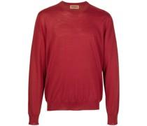 Pullover mit gestreiften Paspeln
