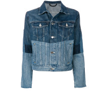Jeansjacke in Colour-Block-Optik