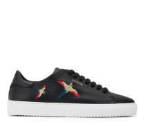 Sneakers mit Vogelstickerei
