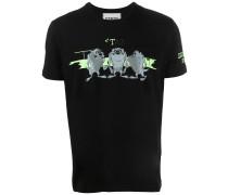 T-Shirt mit Tasmanischer Teufel-Print