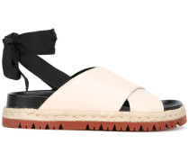 - Sandalen mit Knöchelband - women - Leder/rubber