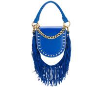 studded fringed strap shoulder bag