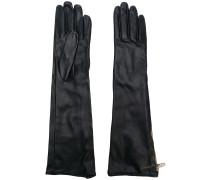 Lange Lederhandschuhe mit Reißverschluss