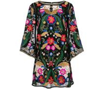 Kleid mit aufgesticktem Muster