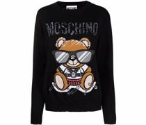Intarsien-Pullover mit Teddy