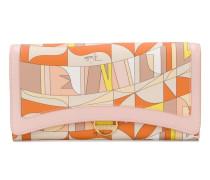Portemonnaie mit abstraktem Print