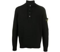 Geknöpfter Pullover mit Stehkragen