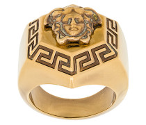 medallion Medusa finger ring