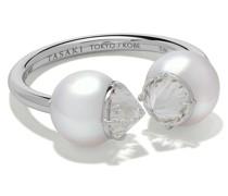 Ring mit Diamanten und Perlen