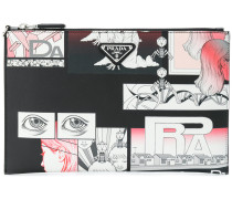 graphic-print pouch