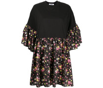 T-Shirtkleid mit Blumen-Print