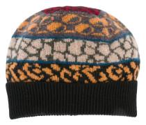 multiple pattern knit beanie
