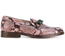 Loafer in Schlangelederoptik
