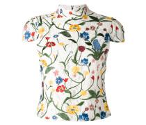 Bluse mit Blumenstickerei - women