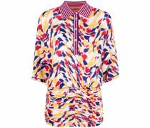 Kleid mit gestreiftem Poloshirtkragen