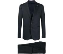 Dreiteiliger Anzug mit Metallic-Details