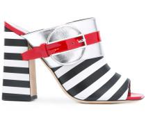 'Deco Colour-Block & Stripes' Pantoletten