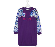 panther embroidered sweatshirt dress