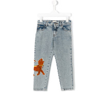 Jeans mit Tiger-Patch