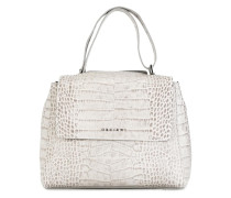 snakeskin effect tote
