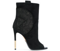 heeled crest ankle boots