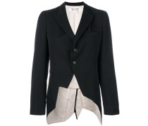 fitted pleated jacket