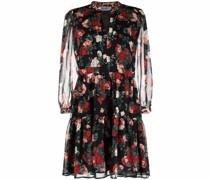 Gesmoktes Kleid mit Blumen-Print