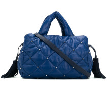 quilted tassel tote