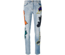 Florage flower embroidered jeans