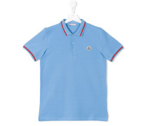 Poloshirt mit Logo-Patch - kids - Baumwolle