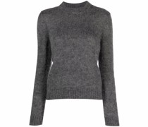 crew-neck knitted jumper