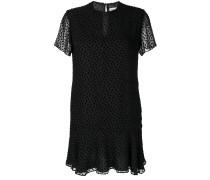 devoré short sleeve mini dress