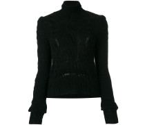 Merino-Pullover mit Zopfmuster