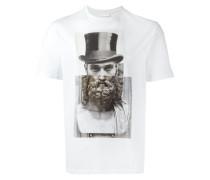T-Shirt mit Statuen-Print