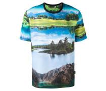 T-Shirt mit Landschafts-Print - men - Baumwolle