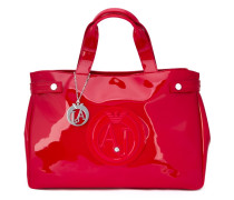 Große Handtasche mit Logo-Prägung