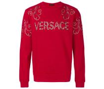 studded logo sweatshirt