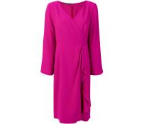 Gewickeltes Kleid mit V-Ausschnitt