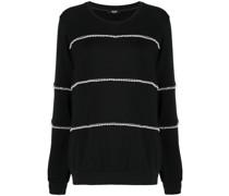 faux pearl-embellished sweatshirt