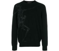 dancing skeleton intarsia jumper