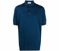 Adrian ribbed-knit polo shirt