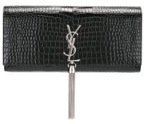 'Monogram' tassel clutch
