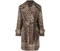 leopard print belted coat