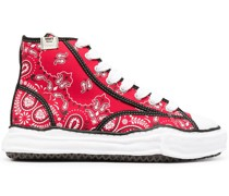 High-Top-Sneakers mit Paisleymuster