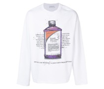 Sweatshirt mit Hustensaft-Print