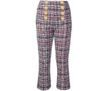 Tweed-Hose mit Knöpfen