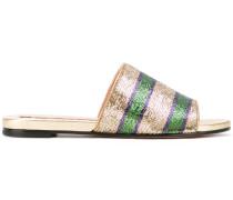 Sandalen mit Paillettenstickerei - women