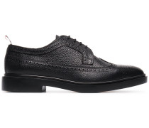 grained lace-up brogues