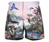 Badeshorts mit tropischem Print
