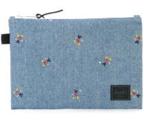 Jeans-Clutch mit Micky-Maus-Print
